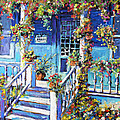 Country Porch And Flowers By Prankearts by Richard T Pranke