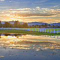 Country Sunset Reflection by James BO  Insogna