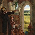 Couple Observing A Landscape by English School