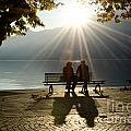 Couple On A Bench by Mats Silvan