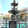 Court Square Fountain by Carol Groenen
