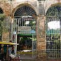Courtyard Restaurant Trinidad Cuba by Laurel Fredericks