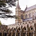 Courtyard Salisbury Cathedral - England by Jon Berghoff