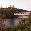 Covered Bridge At Dawn No. 1 by Belinda Greb