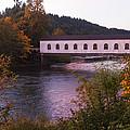 Covered Bridge At Dawn No. 2 by Belinda Greb