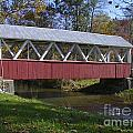 Covered Bridge In Fall by Tim Mulina