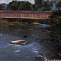 Covered Bridge In The Rain by Ericamaxine Price