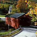 Covered Bridge In Vermont by Rafael Macia and Photo Researchers