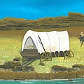 Covered Wagon by Donna Leach