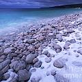 Covered With Snow Pebbled Shore Of Georgian Bay by Oleksiy Maksymenko