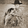 Cowboy And Dog by Cindy Singleton