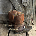 Cowboy Boots With Spurs by Jill Battaglia
