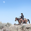 Cowboy Desert Moon by Cindy Singleton