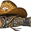 Cowboy Hat And Boot by Susan Leggett