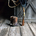 Cowboy Hat Boots Lasso And Rifle by Jill Battaglia