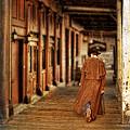 Cowboy In Old West Town by Jill Battaglia