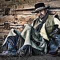 Cowboy Stare-down by Janet Fikar