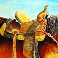 Cowgirl Saddle by Mike Kinsey