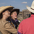 Cowgirl Serenading the Cowboys