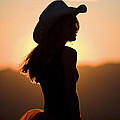 Cowgirl Silhouette by Cathy Gregg