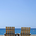 Cozumel Mexico Beach Chairs And Blue Skies by Shawn O'Brien