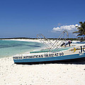 Cozumel Mexico Fishing Boats On White Sand Beach by Shawn O'Brien