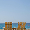 Cozumel Mexico Poster Design Beach Chairs And Blue Skies by Shawn O'Brien