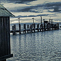 Crab Boat At Pier by Frank Lee