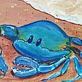 Crab On The Beach by Paintings by Gretzky