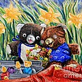 Cracky Bear And Little Boy Bear  So Happy Together by Thomas J Nixon