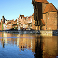 Crane In The Old Town Of Gdansk by Artur Bogacki