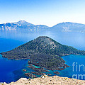 Crater Lake Wizard Island by L J Oakes