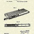 Cribbage Board 1879 Patent Art by Prior Art Design