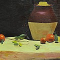Crock With Fruit by Tom Amiss