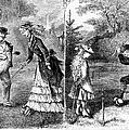 Croquet, 1873 by Granger