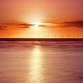 Crosby Beach In Sunset by Ian Moran