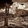 Cross At Los Golondrinas by Christine Hauber