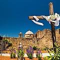 Cross At Mission San Jose Texas by Matt Suess
