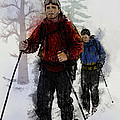 Cross Country Skiers by Elaine Plesser