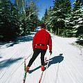 Cross-country Skiing, Lake Placid, New by Skip Brown
