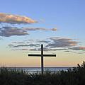 Ocean Grove Nj Cross On Beach by Terry DeLuco