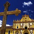 Cross Outside San Cristobal De Las by Axiom Photographic