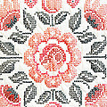 Cross Stitch Roses by Marilyn Hunt