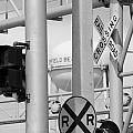 Crossing Signs In Black And White  by Rob Hans