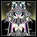 Crown And Jeweled Lotus Flowers Fractal 124 by Rose Santuci-Sofranko