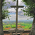 Crucifix Overlooking The French Countryside by Dave Mills
