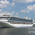 Cruise Ships At Cruiseport Boston by Clarence Holmes