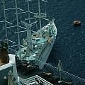 Cruiser In Santorini Island by Colette V Hera  Guggenheim