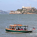 Cruizing The San Francisco Bay On The Pier 39 Boat Taxi With Alcatraz Island In The Distance.7d14322 by Wingsdomain Art and Photography