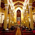 Cuenca Ecuador Church Interior by Al Bourassa